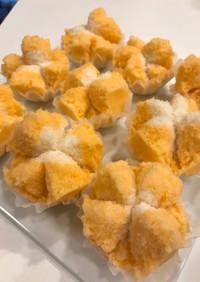 豆乳で作る・アッパム 蒸しケーキオレンジ