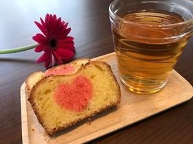 【簡単おやつ】ハート模様のパウンドケーキ
