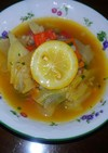 朝の野菜スープ