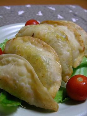 カボチャの揚げ焼き餃子