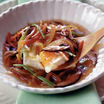 豆腐と卵の甘酢あんかけ