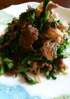 牛肉と春菊の炒め煮