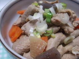 活力鍋で、豚モツ煮