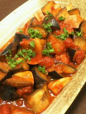 ★ナスとエリンギとベーコンのトマト煮