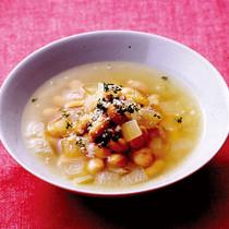 大豆と玉ねぎのスープ