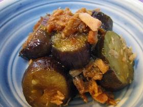 茄子とツナの甘辛煮