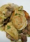 里芋と砂肝のガーリックマヨ炒め