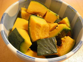 フライパンでかぼちゃの塩煮