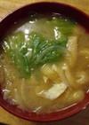 レタス入り味噌汁(具だくさん)