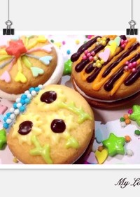 簡単♡マシュマロサンドクッキー♡スモア