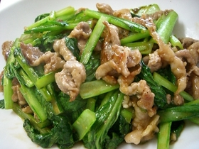 ご飯が進む★豚肉と小松菜のオイスター炒め