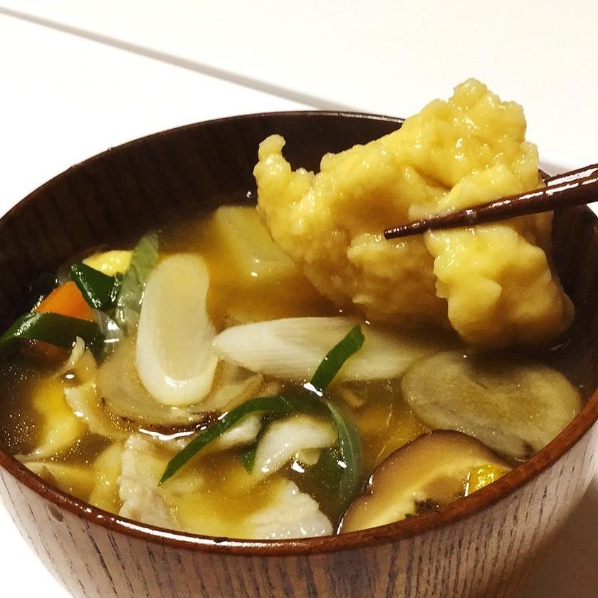野菜タップリ、根菜のすいとん