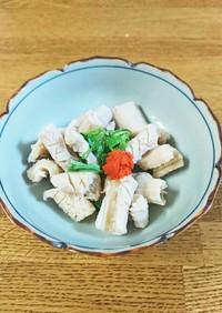ミノ湯引き(ポン酢)  板前の嫁レシピ