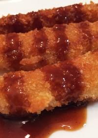 海老フライみたい☆天ぷら粉で笹かまフライ