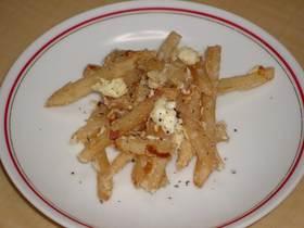 フライドポテトのクリームチーズ炒め