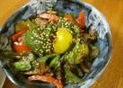 カラフルサバ味噌炒め