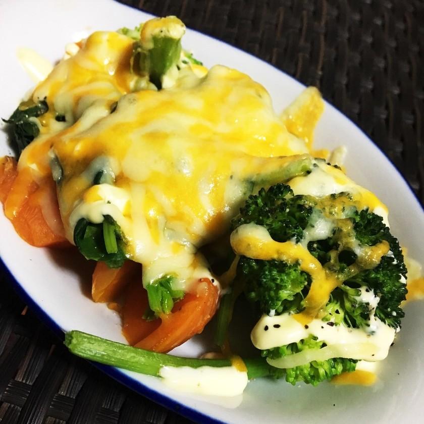 超簡単野菜とチーズのオーブン焼き