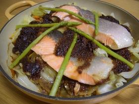 鮭と秋野菜のちゃんちゃん焼き