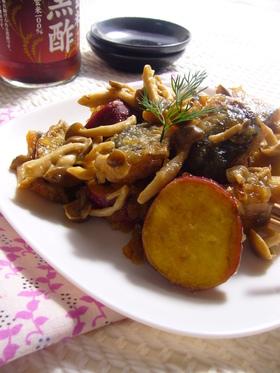 秋刀魚とさつまいもとしめじのさっぱり煮