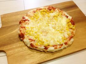 フードプロセッサーと鍋で作るピザ