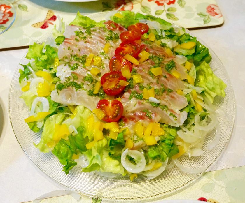 鯛と野菜のフレッシュマリネ