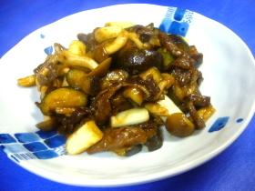 牛肉と茄子のオイスターカレー炒め