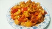 簡単 鶏ささみとパプリカのオーロラ炒めの写真