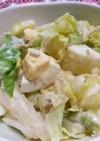 レンジ蒸しキャベツと卵のおかかマヨサラダ