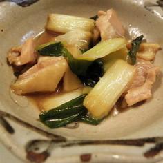 鶏と長ネギの簡単煮物♪