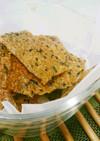 炊いたご飯で簡単☆玄米クラッカー