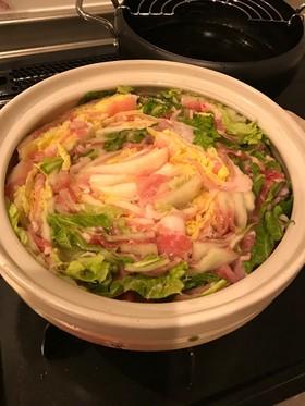 簡単!豚肉と白菜にゴマ油!ミルフィーユ鍋