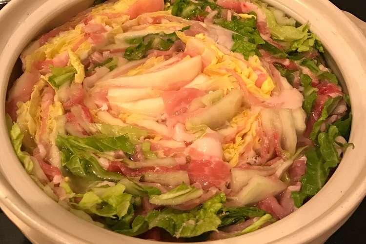 白菜 ミルフィーユ と 豚肉 の 「白菜と豚肉のミルフィーユ鍋・塩麹」作り方|白菜の黒いポツポツの秘密