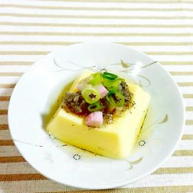 たまご豆腐に、蒲鉾ゆかり大根おろし♪