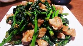 菜の花(菜花)豚肉オイスターソース炒め