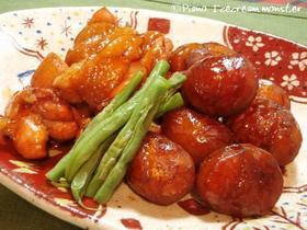 こっくり美味しい☆ 栗と鶏肉の煮もの