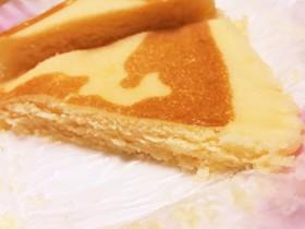 北海道チーズ蒸しケーキで!濃厚ケーキ♡