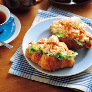 ハム&コーンの卵サラダサンド