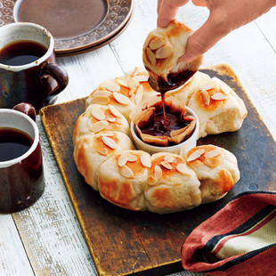 ミルキーちぎりパンのチョコレートフォンデュ
