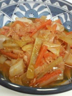 ツナとキャベツのトマト煮