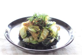 大葉と白菜の炒め煮