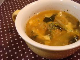 5分で*キムたま♥わかめのスープ