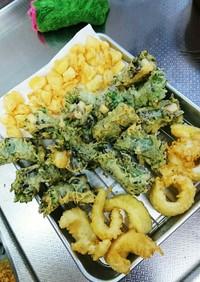 栄養素満点山芋梅納豆大葉海苔巻き天ぷら