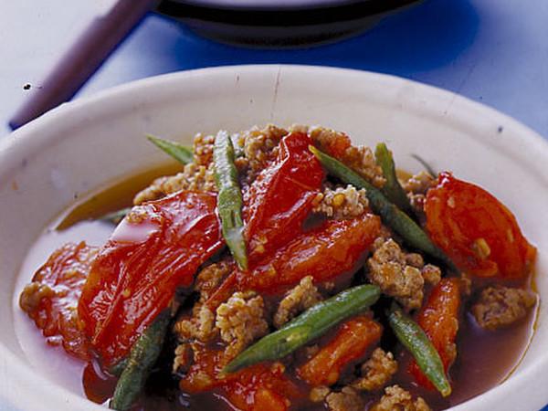 トマトのピリ辛炒め