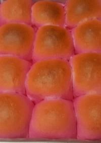 きゃ~♪可愛いピンク♪ビーツのちぎりパン