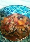 簡単♪ラム肉薄切りのトマト煮込み♪