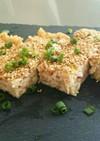 豆腐で簡単ヘルシー蛸と鶏挽き肉の松風焼き