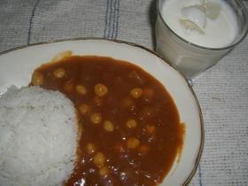 簡単!ひよこ豆カレー