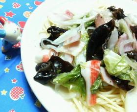 簡単♡白菜の♥中華あんかけ♡パスタ