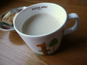 和みのほうじ茶豆乳