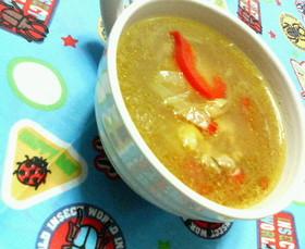 ♡オニオンチキンの♥簡単♡カレースープ
